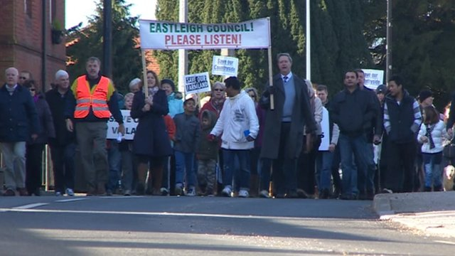 Protest against 1,400 homes on Boorley Green in Eastleigh