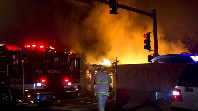 Fire at Country Club Plaza in Kansas City