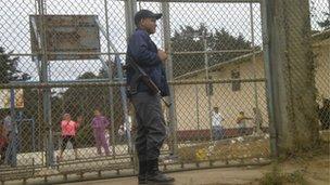 Guard at Pavoncito prison
