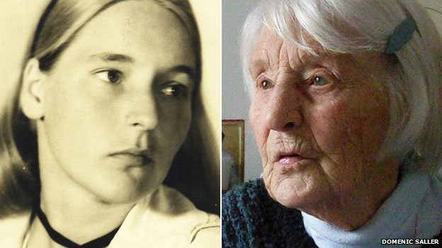 Lilo Furst-Ramdohr in 1942 - and today (picture: Domenic Saller)