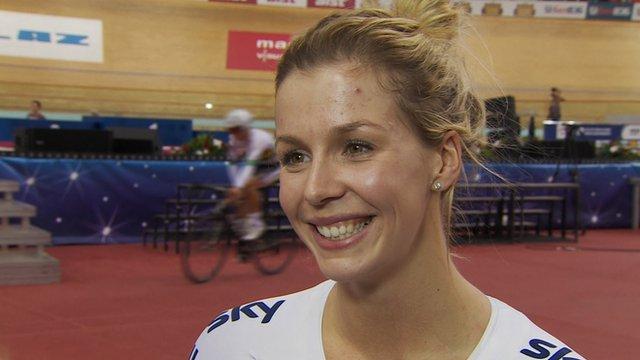 Women's 500m time trial bronze medallist Becky James