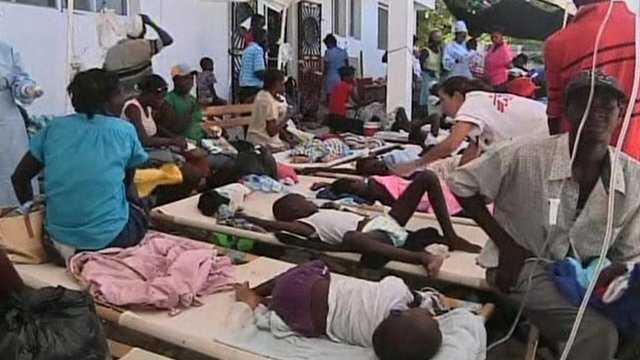 Cholera patients in Haiti