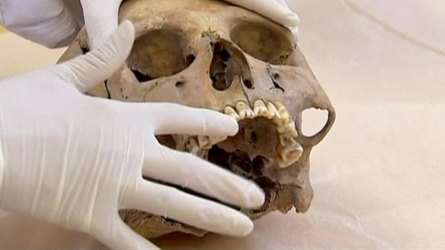 One of the skulls found in Mexico