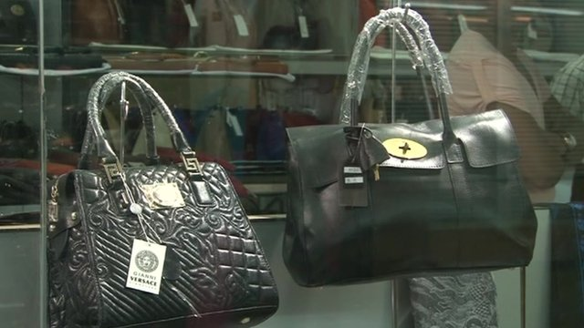 Counterfeit designer bags