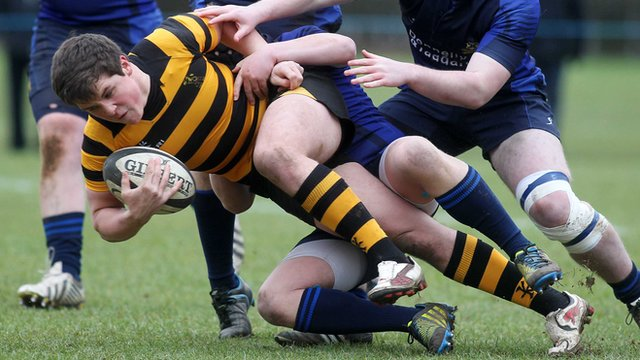 Rory Bell in action for RBAI