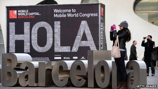 Mobile World Congress sign
