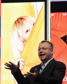Stephen Elop, chief executive of Nokia, delivers keynote at MWC