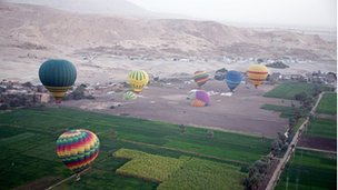 Hot air balloons in Luxor