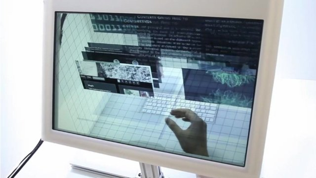 Video showing the SpaceTop 3D technology