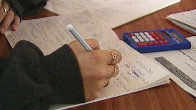 School pupil doing arithmetic