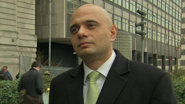 Treasury Minister Sajid Javid