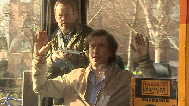 Alan Partridge (Steve Coogan) is held at gunpoint