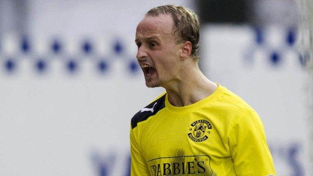 Hibernian striker Leigh Griffiths