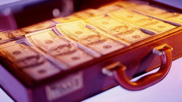 Briefcase of money