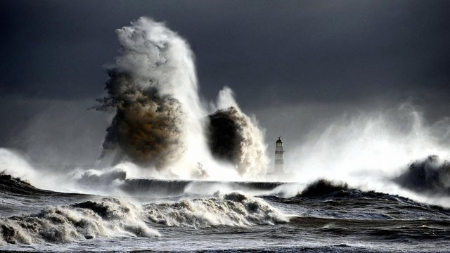 High seas at Seaham Harbour