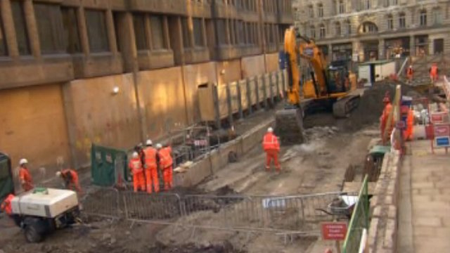 Crossrail construction work