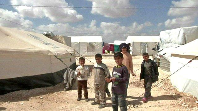 Children in a refuges camp