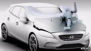 Volvo bonnet airbag