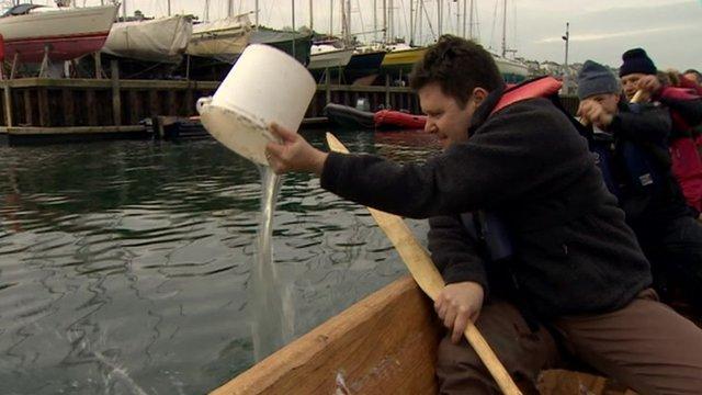 Jon Kay on board the boat