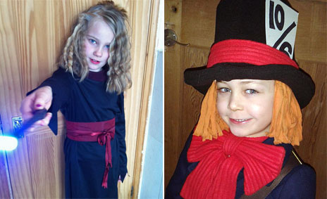 Children dressed up for World Book Day