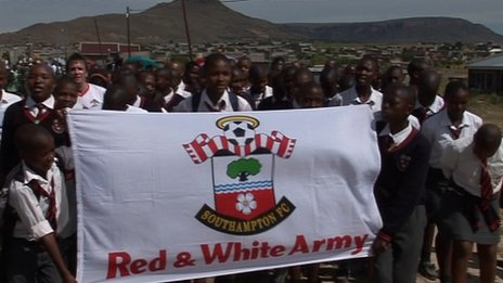 Saints fans in Lesotho, South Africa