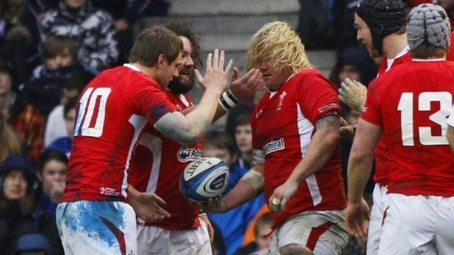 Richard Hibbard was the sole try-scorer in Wales victory