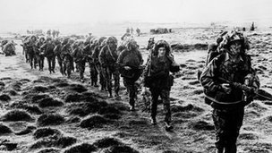 British soldiers in the Falklands War