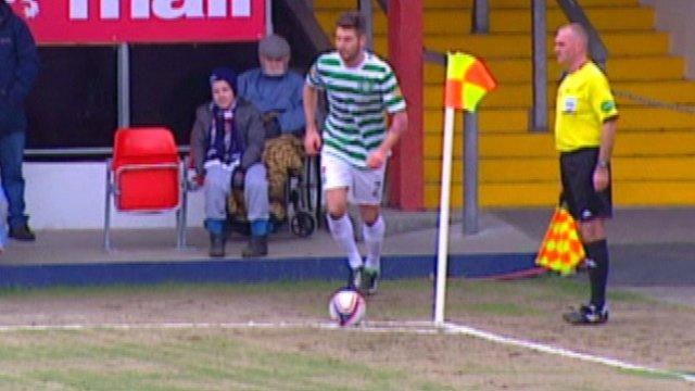 Celtic star Charlie Mulgrew scores direct from a corner
