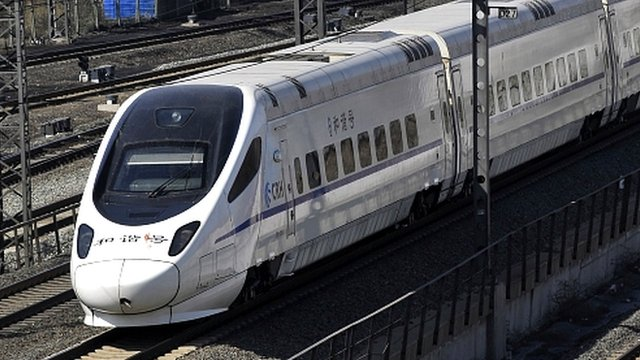 CRH passenger train in Shenyang