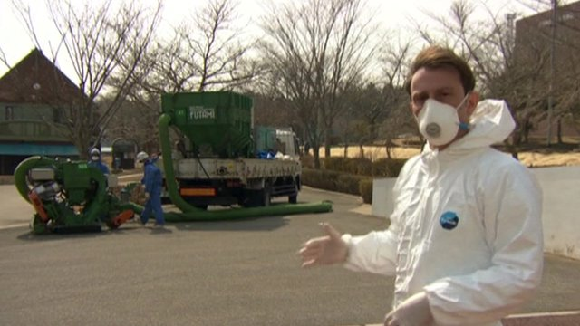 Rupert Wingfield-Hayes inside contamination zone near Fukushima
