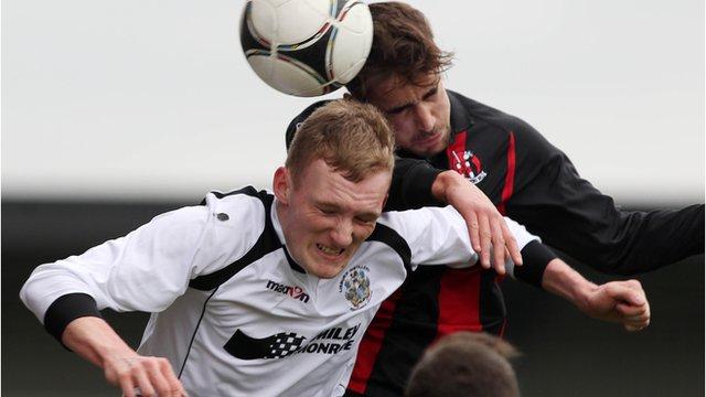 Crusaders against Lisburn Distillery drew 1-1 in the Irish Cup quarter-final at Seaview