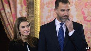 Spain's Crown Prince Felipe and Princess Letizia in 2013