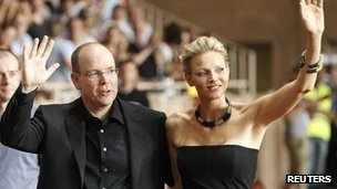 Monaco's Prince Albert II and Charlene Wittstock