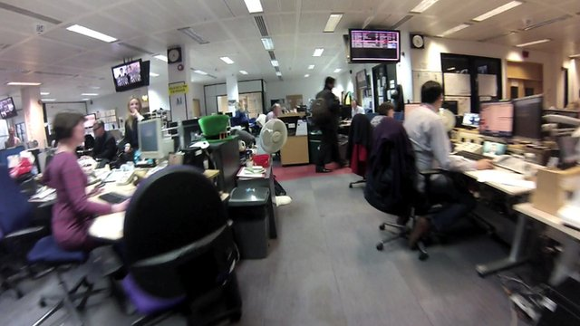 TV Centre newsroom