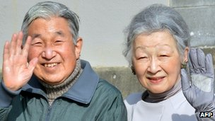Japanese Emperor Akihito and Empress Michiko
