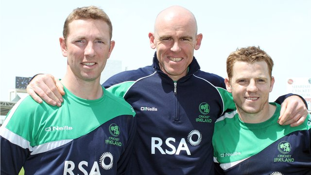 Andrew White, Trent Johnston and Niall O'Brien