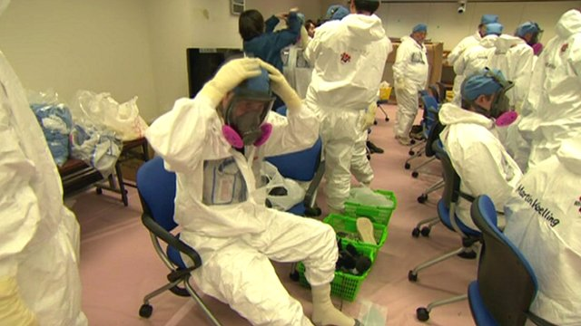 Suiting up for entry to Fukushima