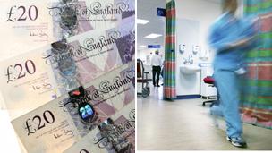 Money, hospital worker
