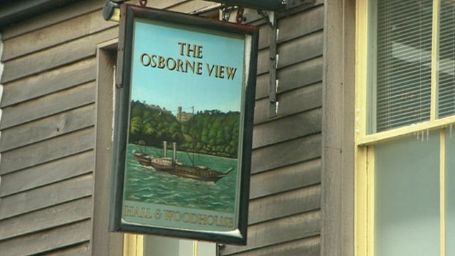 The Osborne View pub sign