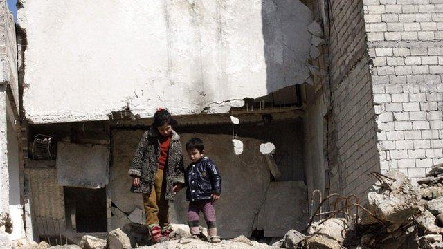 Children in Aleppo in February 2013