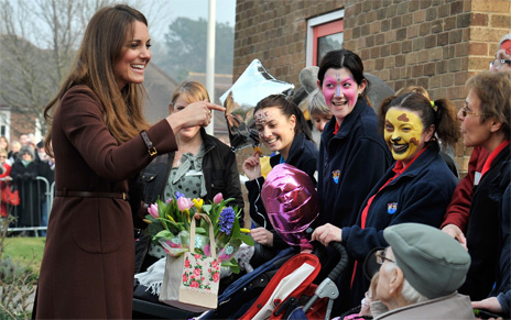 Duchess of Cambridge meets well-wishers in Grimsby, March 2013