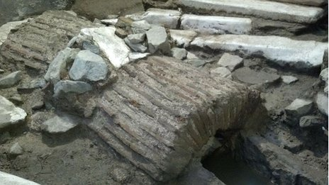 Roman ruins discovered beneath Thessaloniki