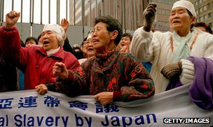 Former comfort women in South Korea protest against Japan