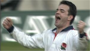 Will Carling celebrates a Grand Slam win in 1995.