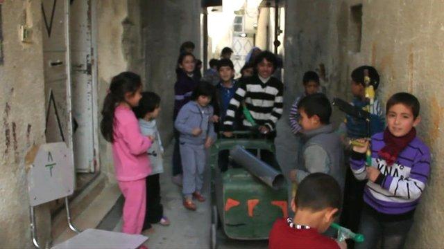 Children playing in Damascus