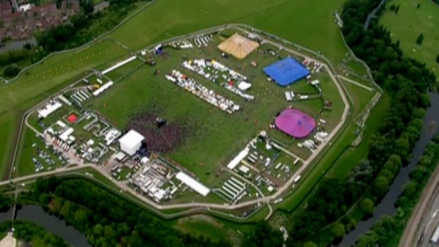 Hackney Marshes during last year's concert