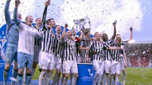 Scenes of celebration and reaction to a historic win for St Mirren in the Scottish League Cup final