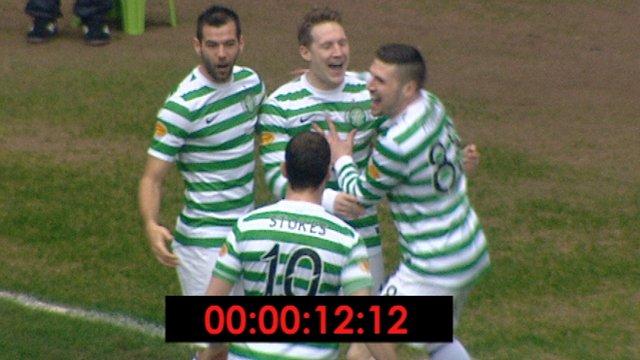 Celtic star Kris Commons scores fastest ever SPL goal