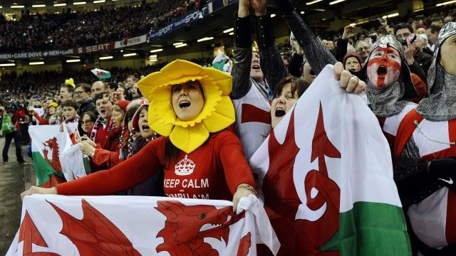 Wales fans at the Millennium Stadium