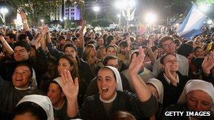 Argentine vigil in Buenos Aires, 18 March